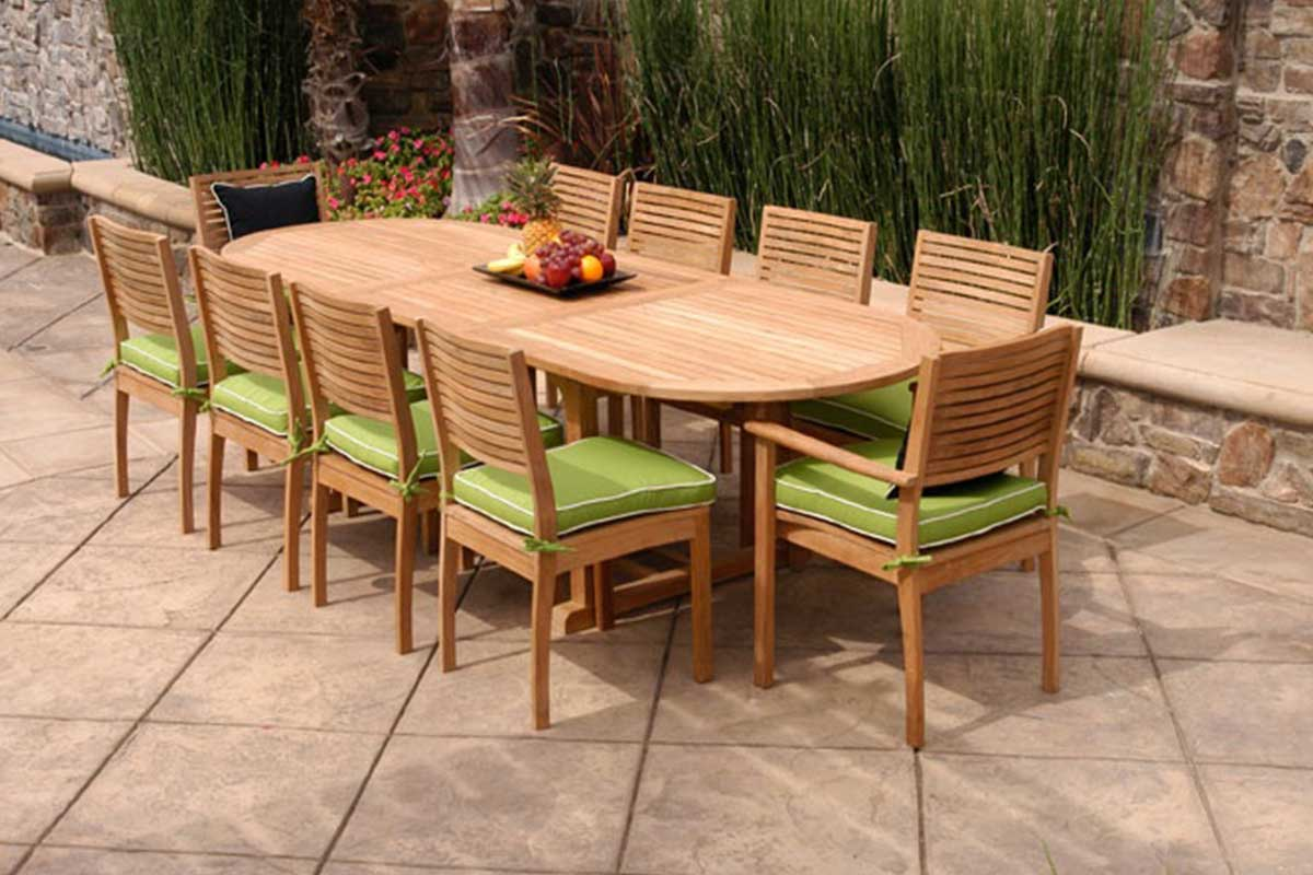 Castle Table - Chair Set & Wood Table - Chair Sets - Furniero Outdoor Furniture
