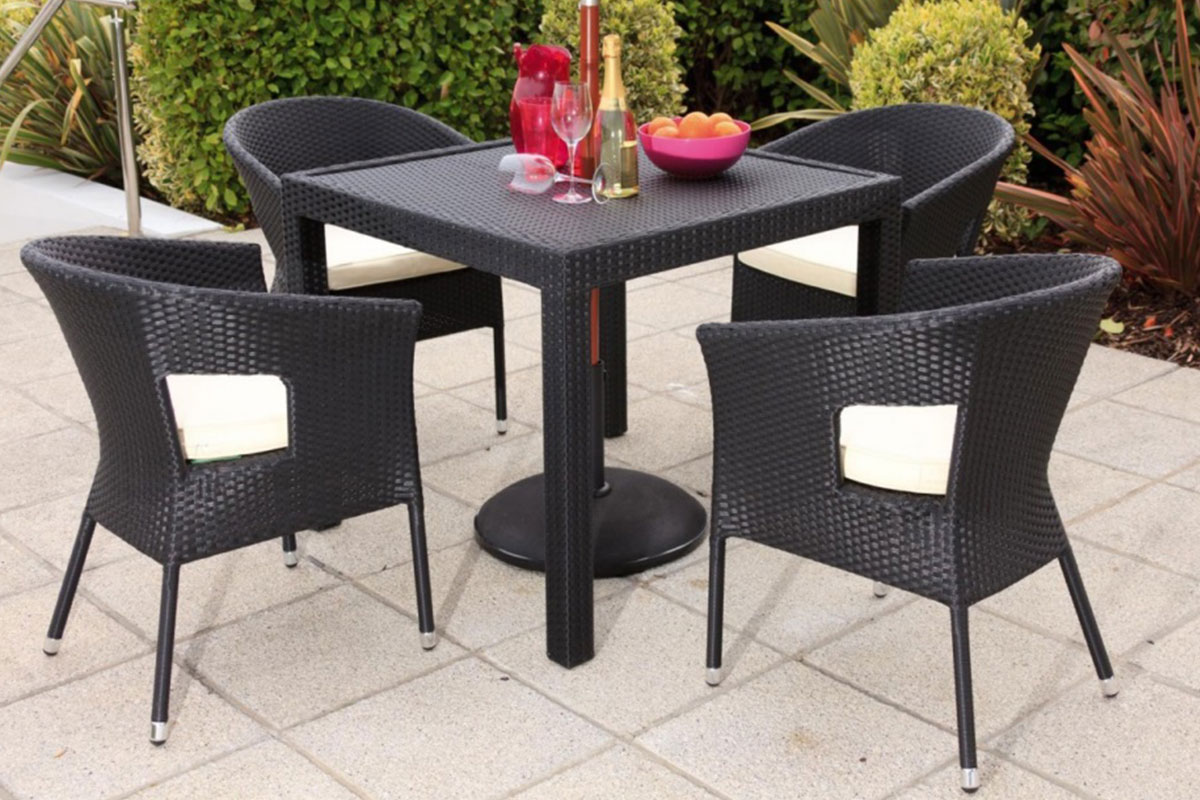 Daily Seat Set & Rattan Table - Chair Sets - Furniero Outdoor Furniture