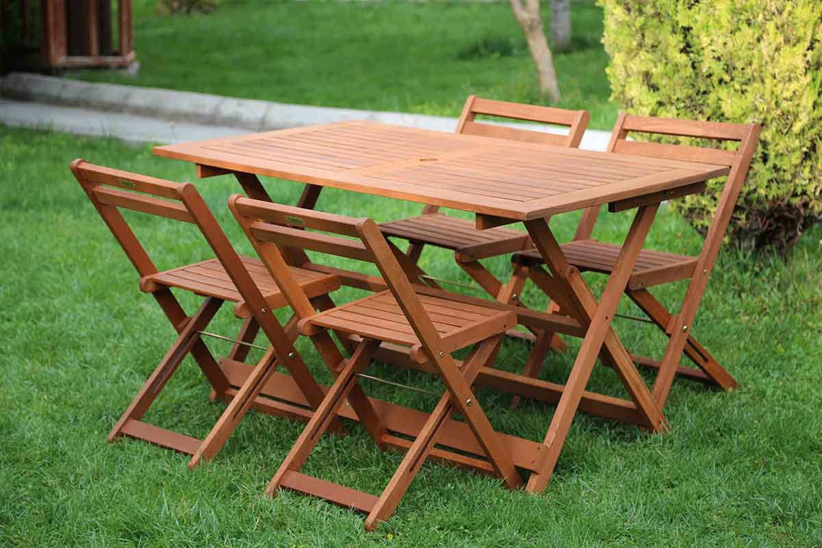 Wood Table Chair Sets Furniero Outdoor Furniture