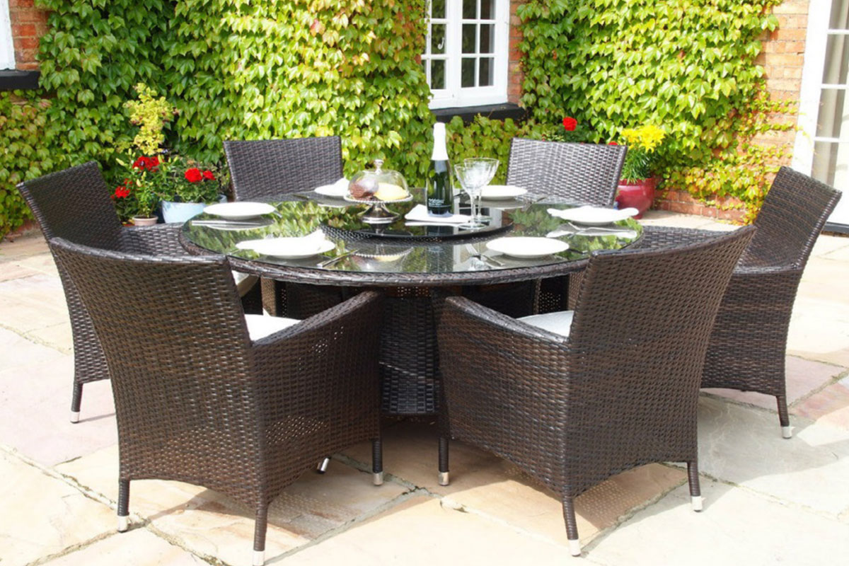 grey and chair seater oval by chairs outdoor table alfresco deco furniture rattan richmond dining set kubu